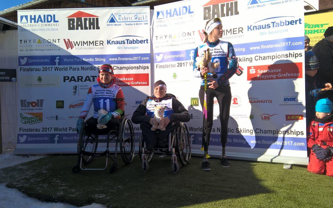 Anja Wicker ist Weltmeisterin über 12,5 km Biathlon