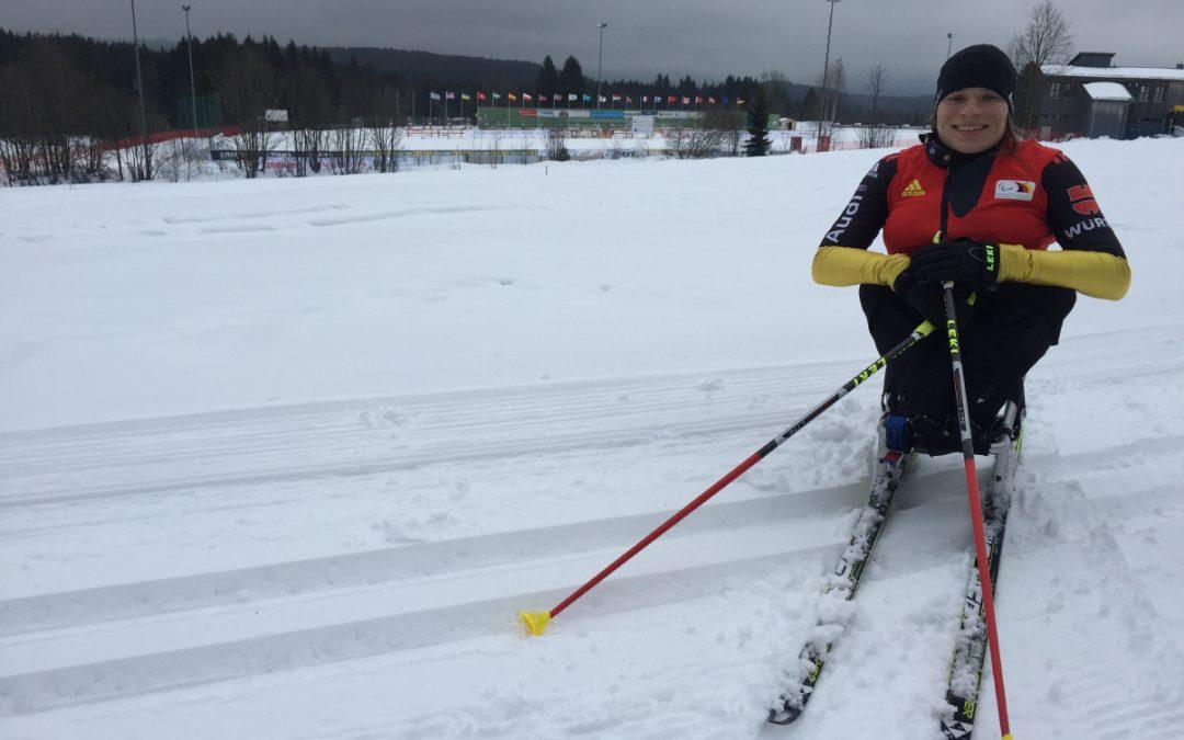 Anja Wicker bei den IPC Weltmeisterschaften in Finsterau