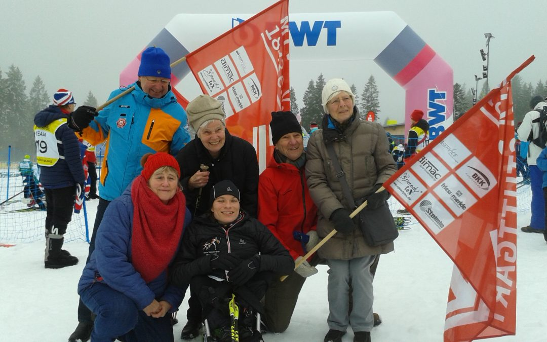 Anja Wicker-Fanclub beim Para-Weltcup in Oberried